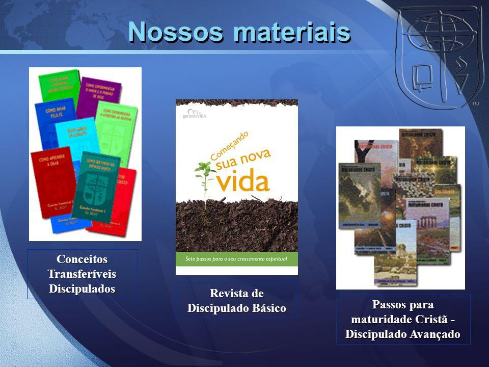 Nossos materiais Conceitos Transferíveis Discipulados