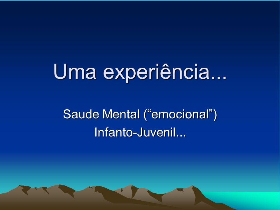 Saude Mental ( emocional ) Infanto-Juvenil...