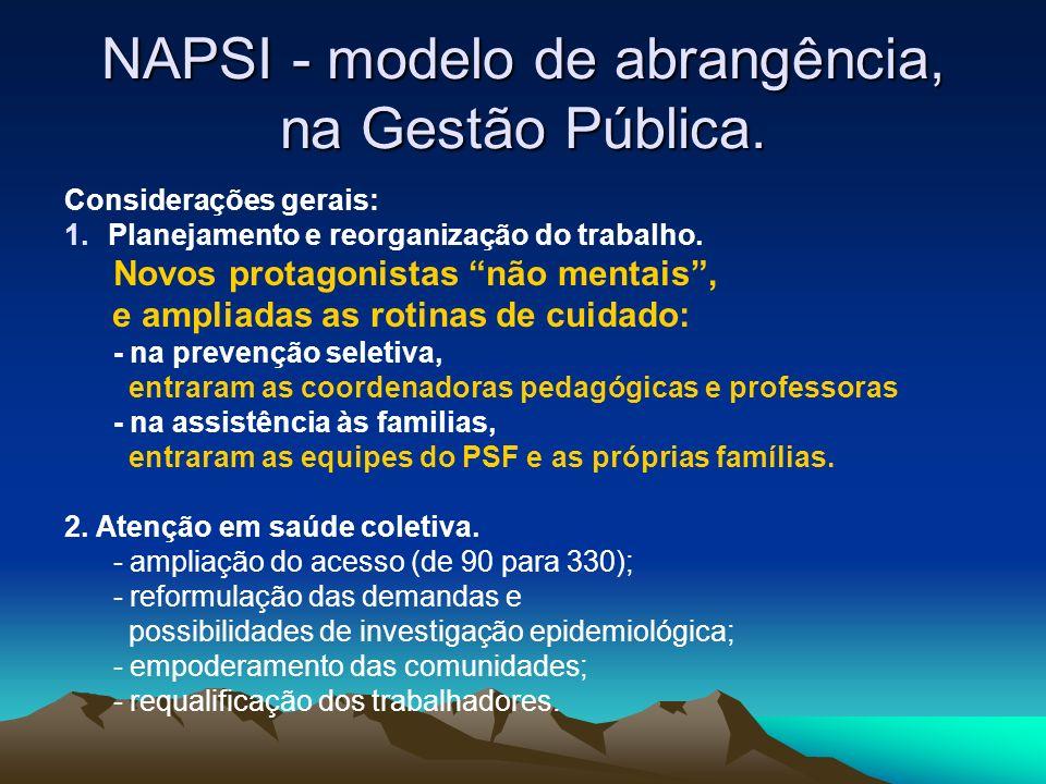 NAPSI - modelo de abrangência, na Gestão Pública.