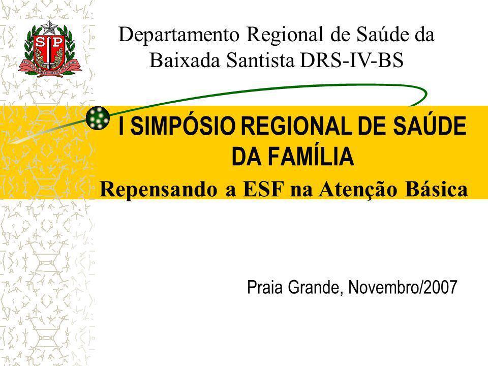 I SIMPÓSIO REGIONAL DE SAÚDE DA FAMÍLIA