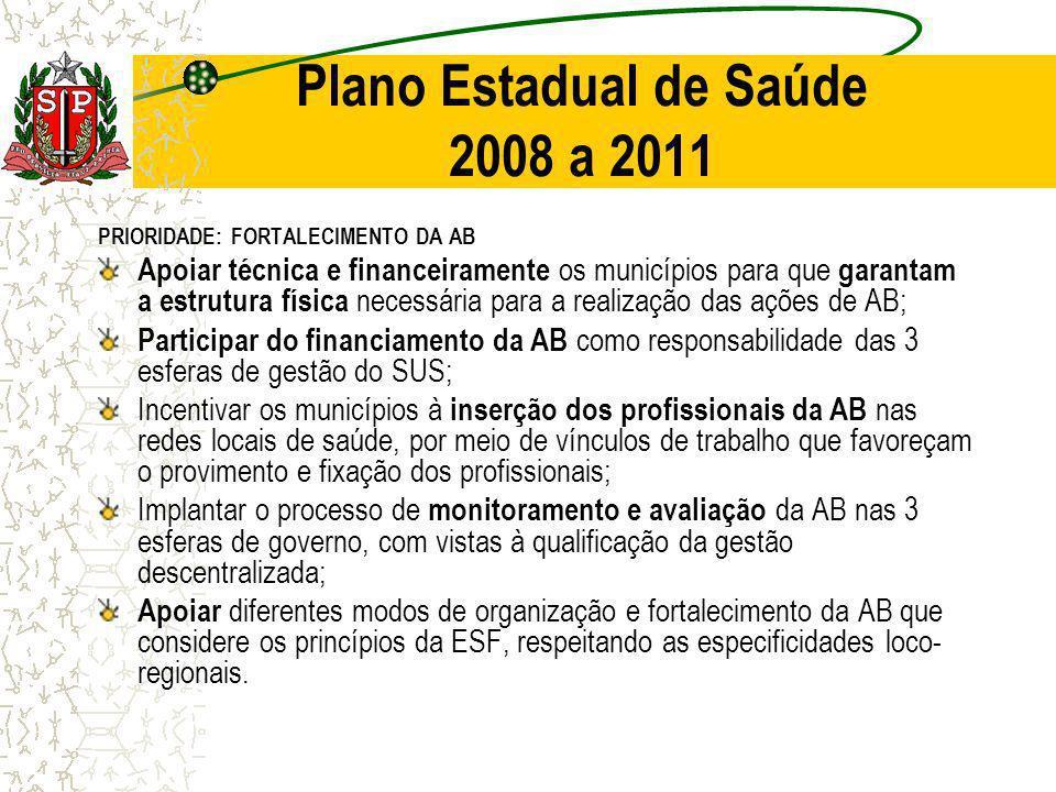 Plano Estadual de Saúde 2008 a 2011