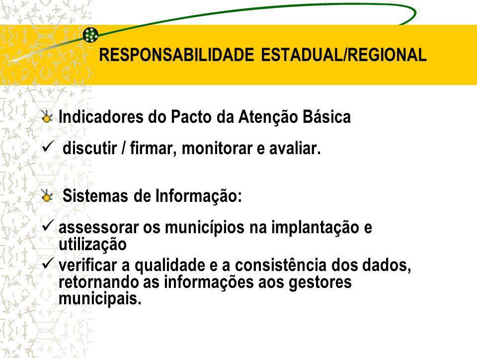 RESPONSABILIDADE ESTADUAL/REGIONAL