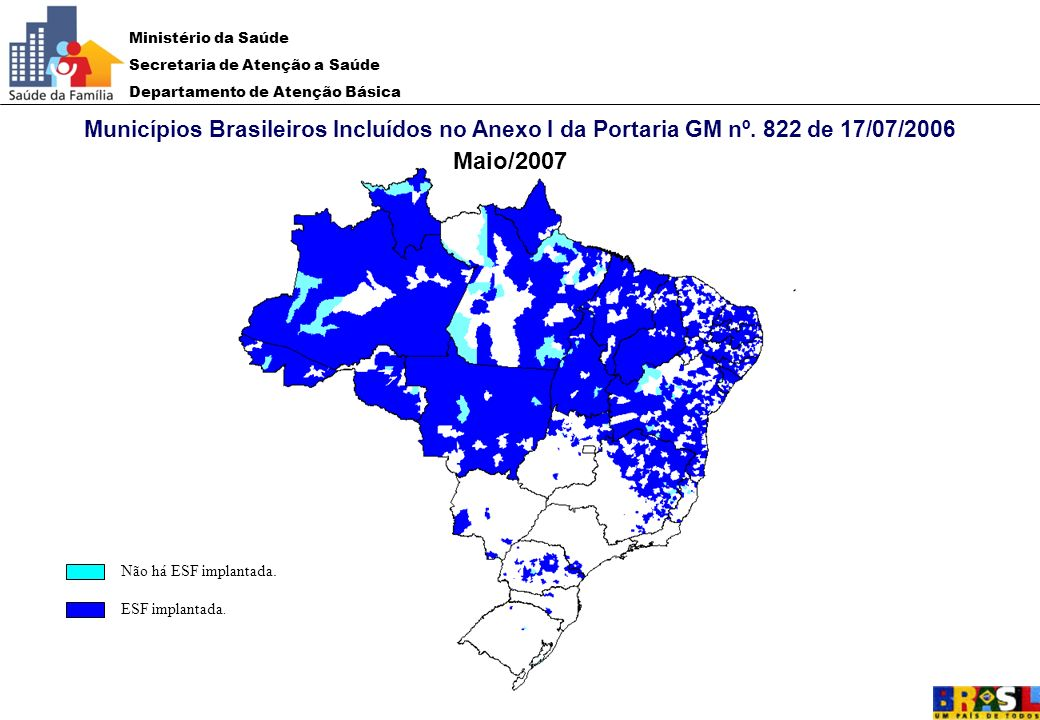 Municípios Brasileiros Incluídos no Anexo I da Portaria GM nº