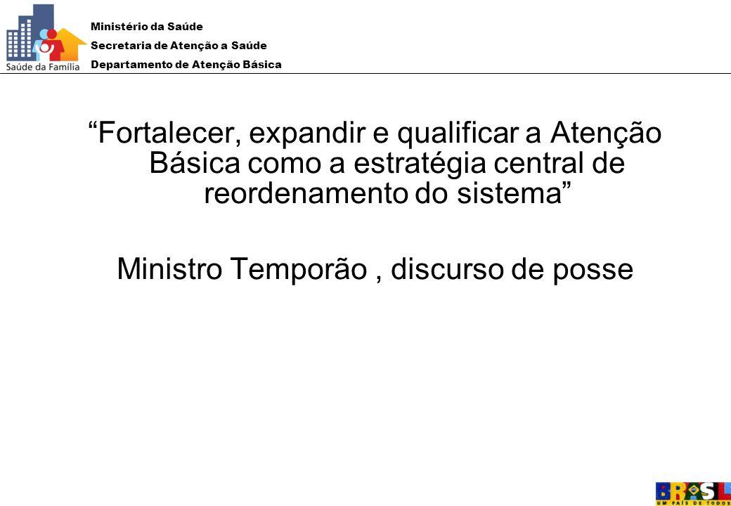 Ministro Temporão , discurso de posse