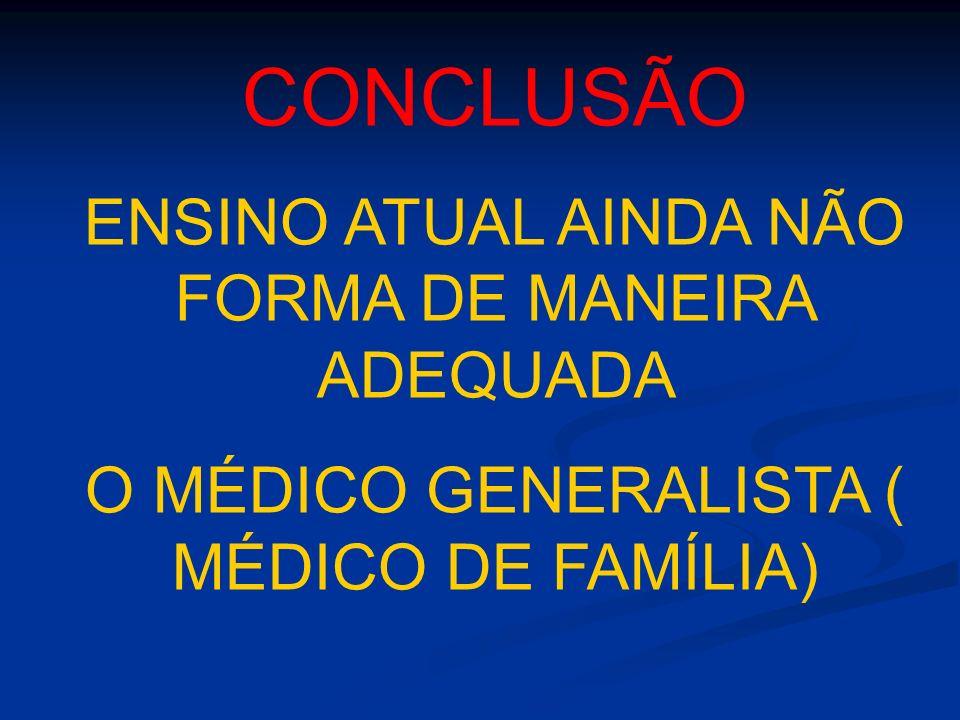 CONCLUSÃO ENSINO ATUAL AINDA NÃO FORMA DE MANEIRA ADEQUADA