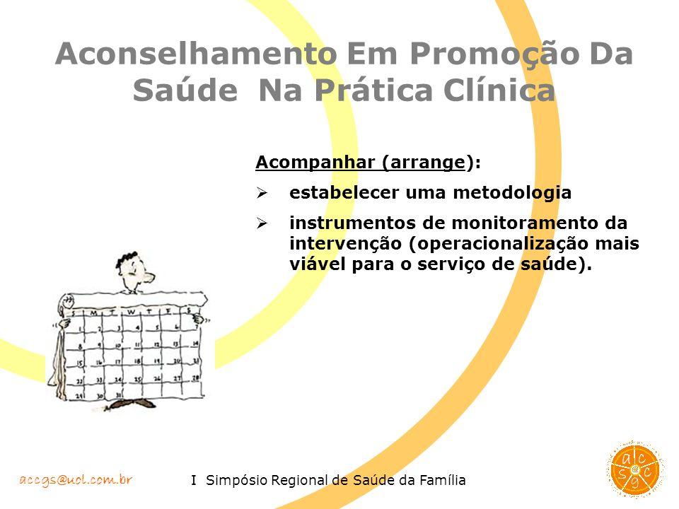 Aconselhamento Em Promoção Da Saúde Na Prática Clínica