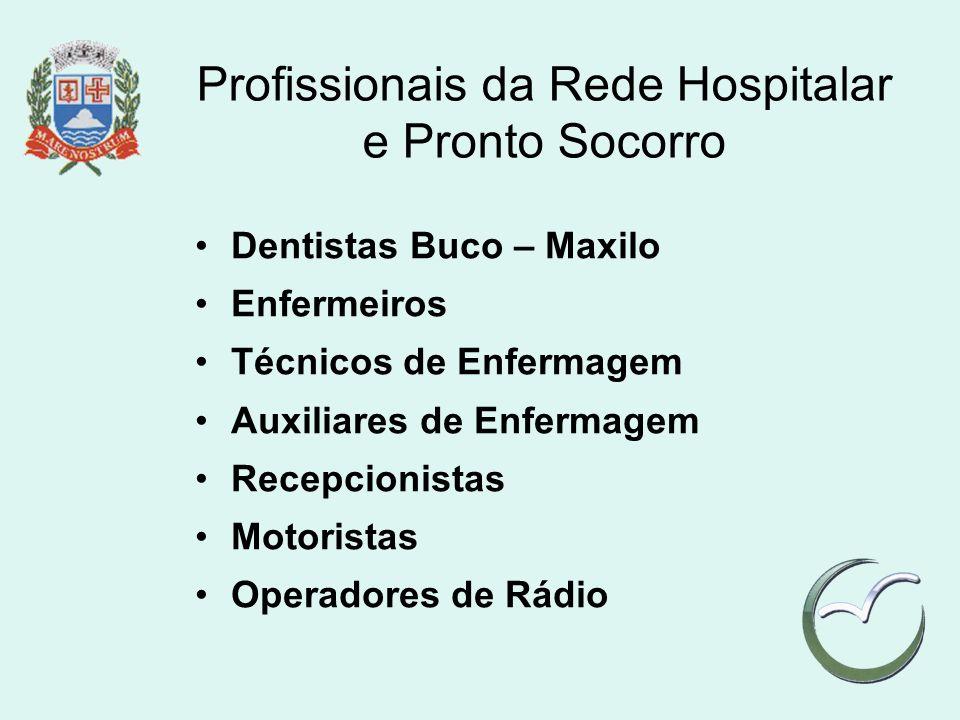 Profissionais da Rede Hospitalar e Pronto Socorro