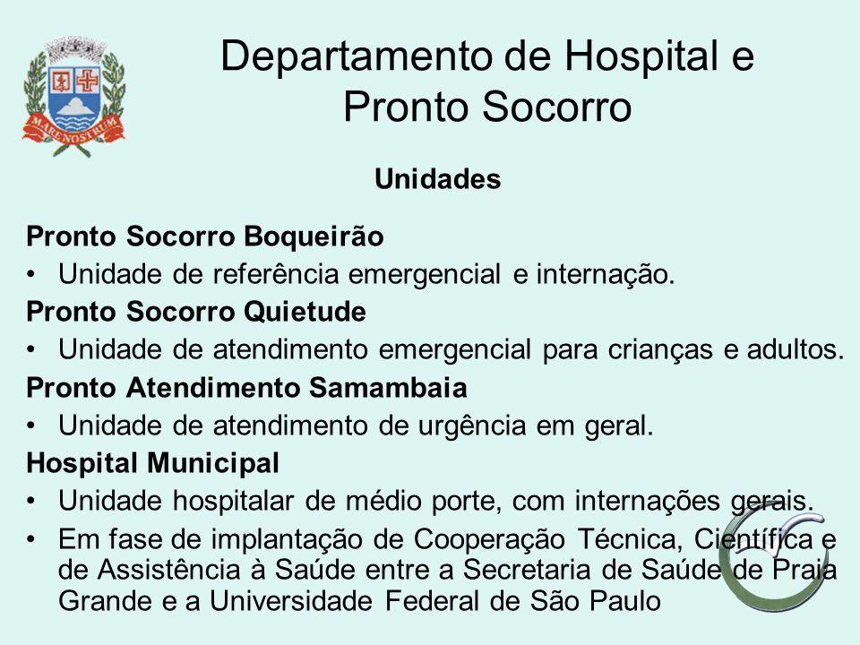 Departamento de Hospital e Pronto Socorro