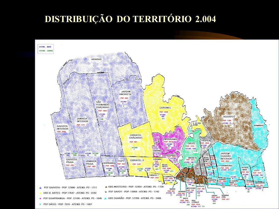 DISTRIBUIÇÃO DO TERRITÓRIO 2.004