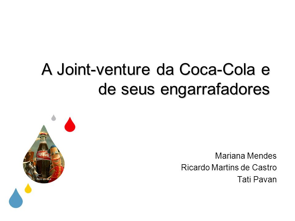 A Joint-venture da Coca-Cola e de seus engarrafadores