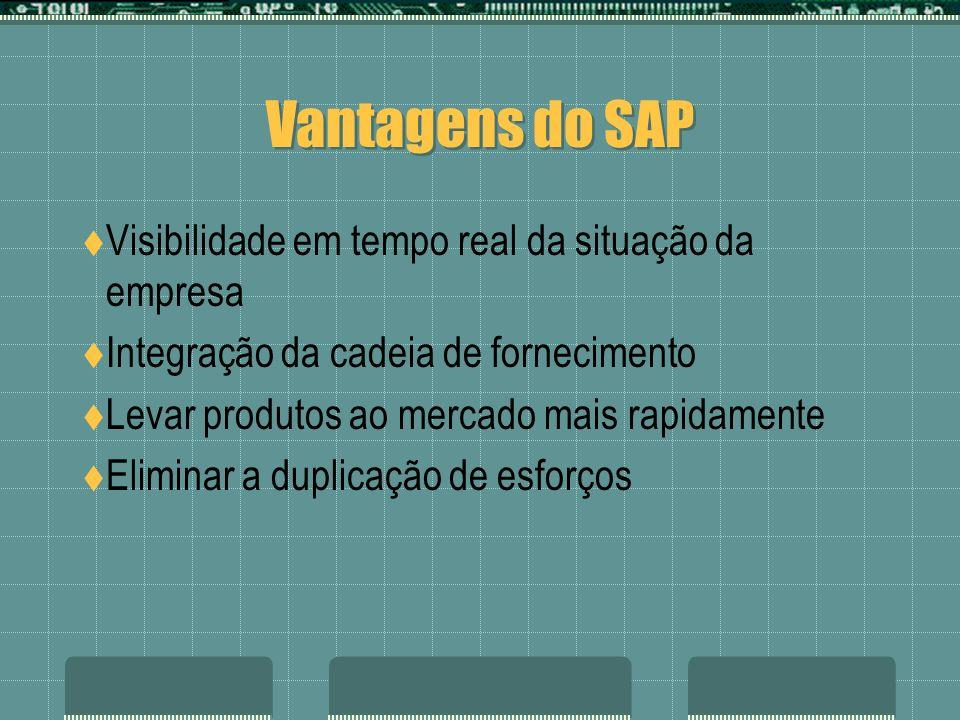 Vantagens do SAP Visibilidade em tempo real da situação da empresa