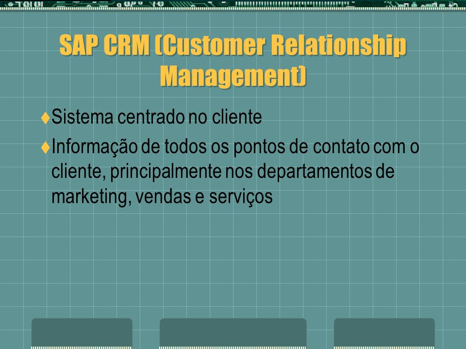 SAP CRM (Customer Relationship Management)