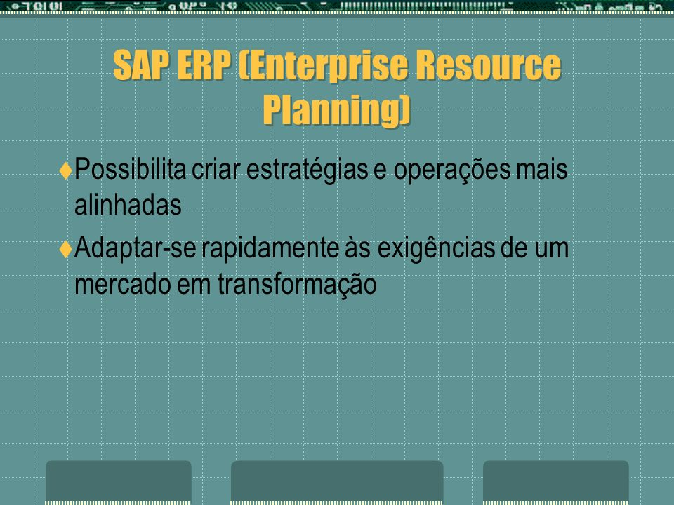 SAP ERP (Enterprise Resource Planning)