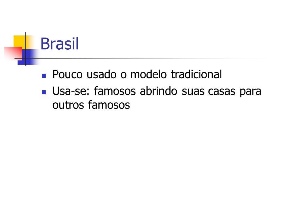 Brasil Pouco usado o modelo tradicional