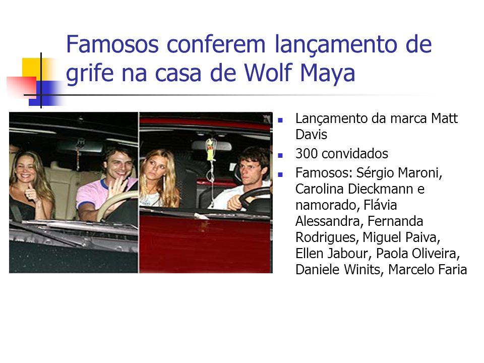 Famosos conferem lançamento de grife na casa de Wolf Maya