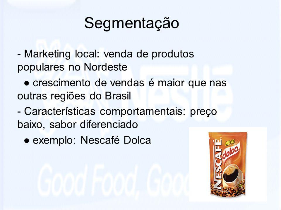Segmentação - Marketing local: venda de produtos populares no Nordeste