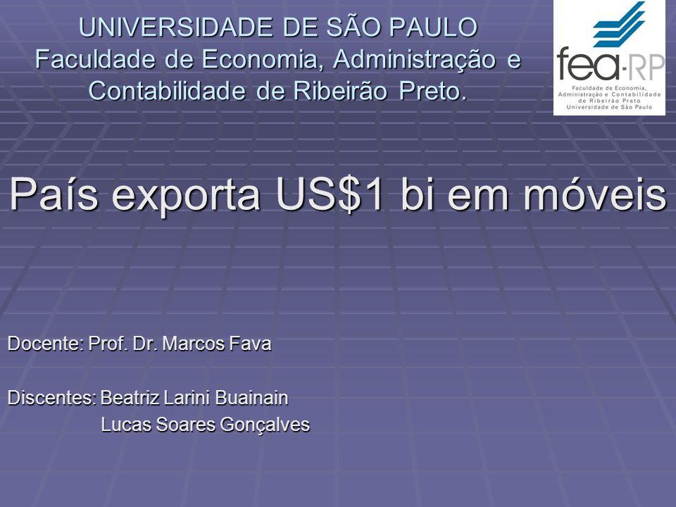 País exporta US$1 bi em móveis