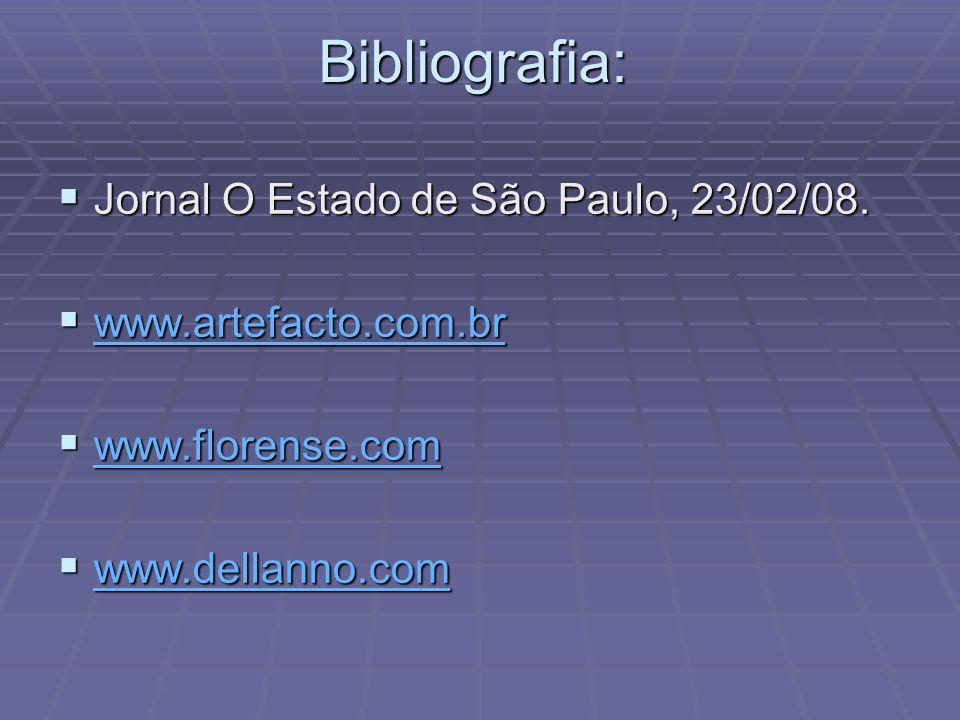 Bibliografia: Jornal O Estado de São Paulo, 23/02/08.