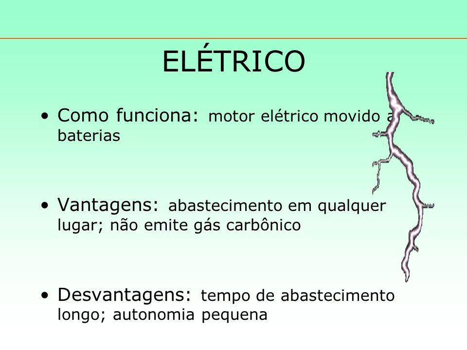 ELÉTRICO Como funciona: motor elétrico movido a baterias