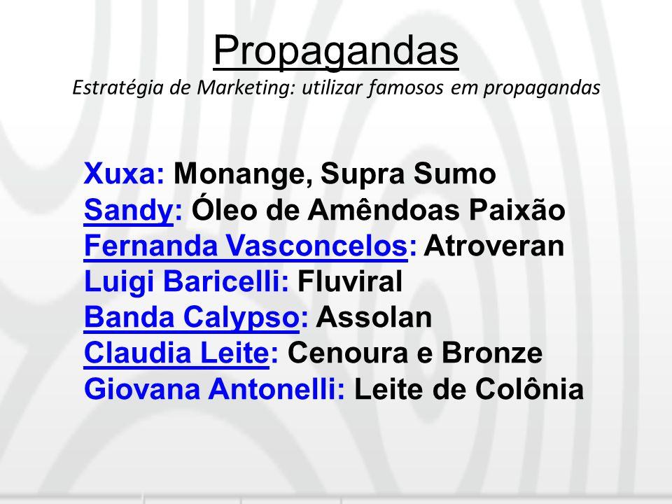 Propagandas Estratégia de Marketing: utilizar famosos em propagandas