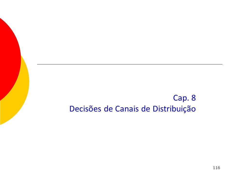 Cap. 8 Decisões de Canais de Distribuição