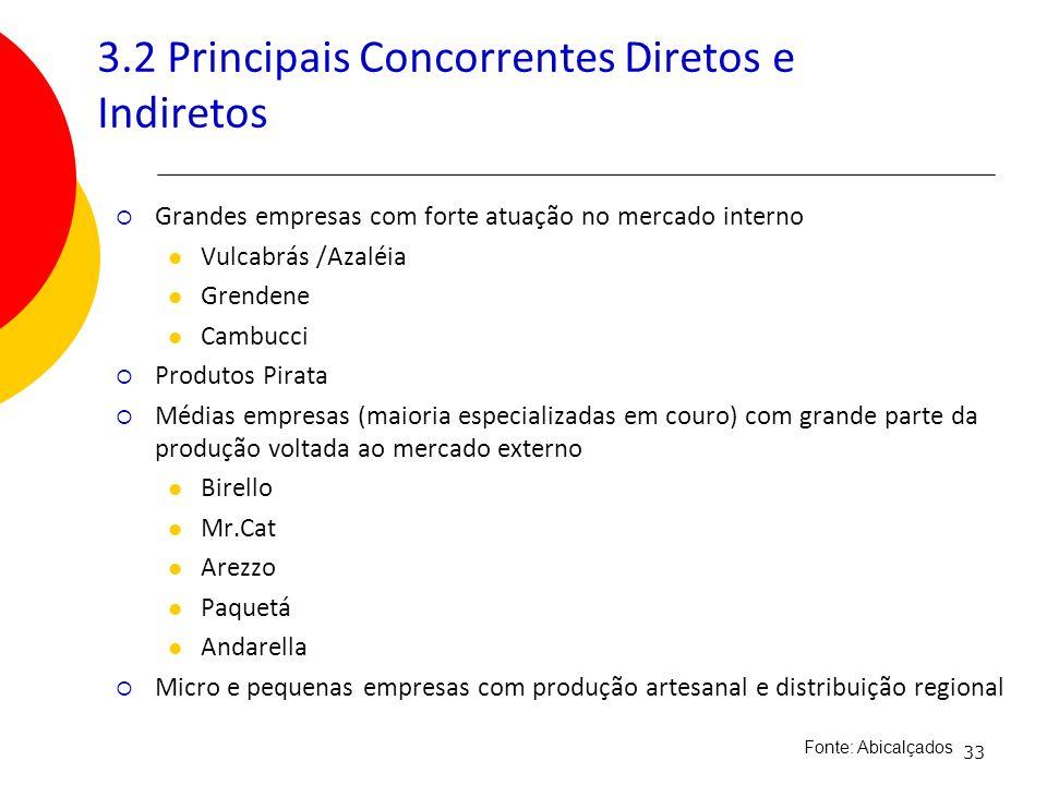 3.2 Principais Concorrentes Diretos e Indiretos