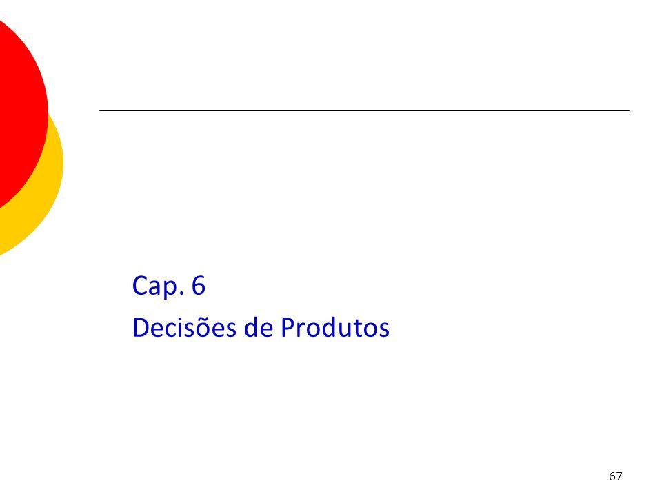 Cap. 6 Decisões de Produtos
