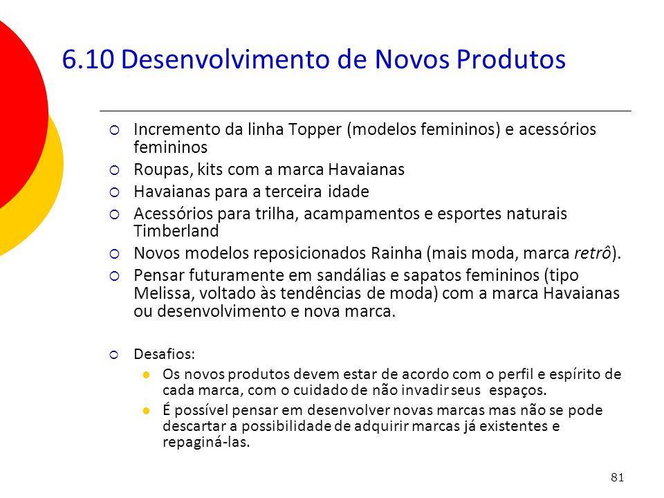 6.10 Desenvolvimento de Novos Produtos