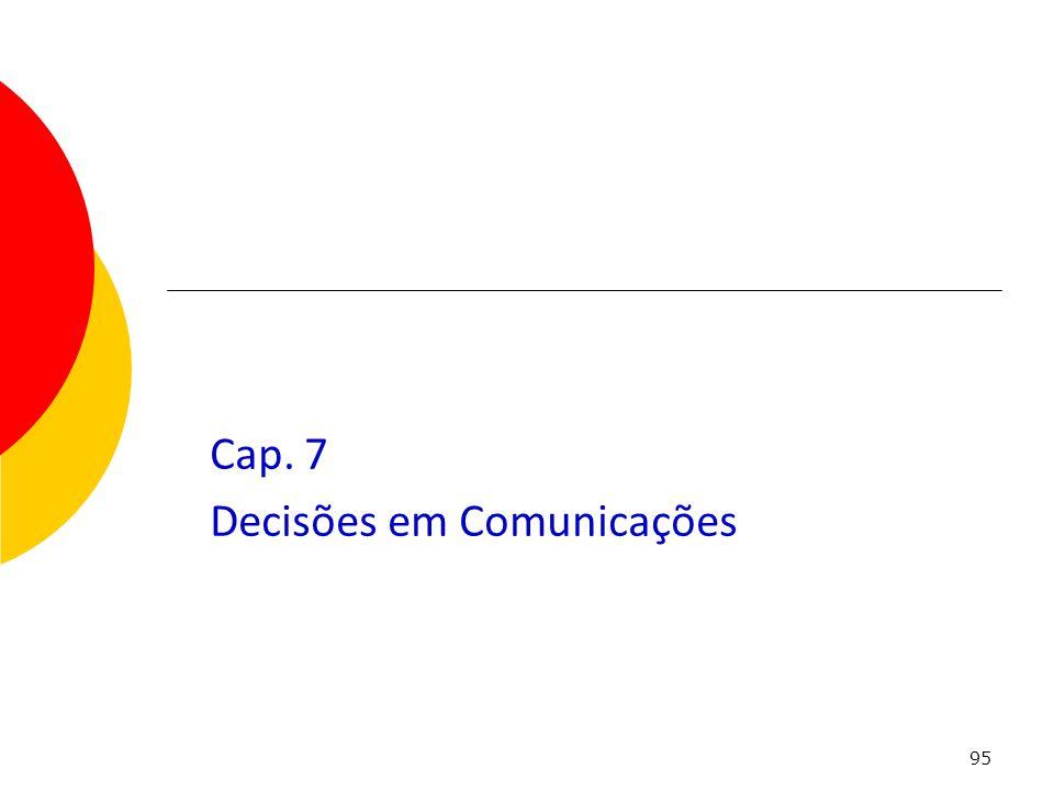 Cap. 7 Decisões em Comunicações