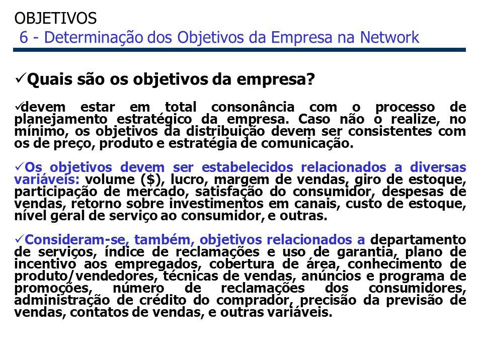 OBJETIVOS 6 - Determinação dos Objetivos da Empresa na Network