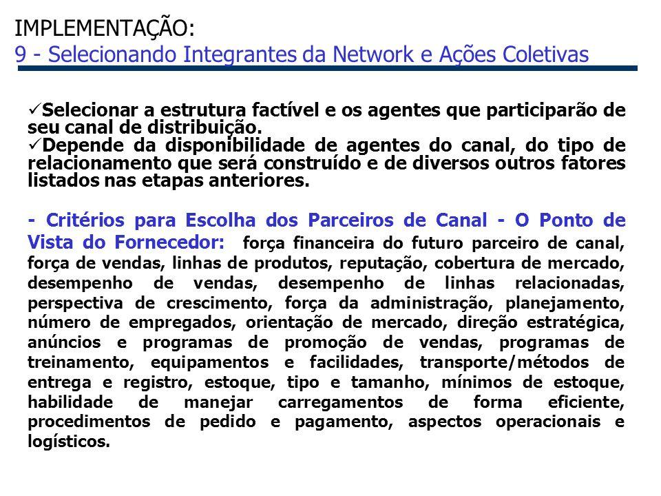 IMPLEMENTAÇÃO: 9 - Selecionando Integrantes da Network e Ações Coletivas