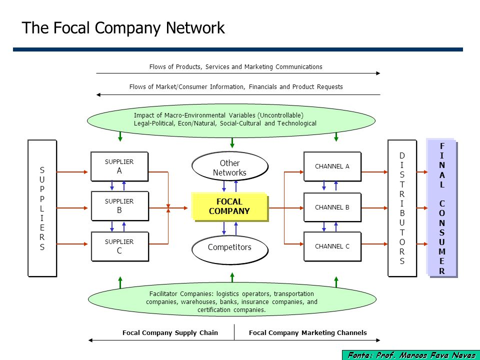 The Focal Company Network