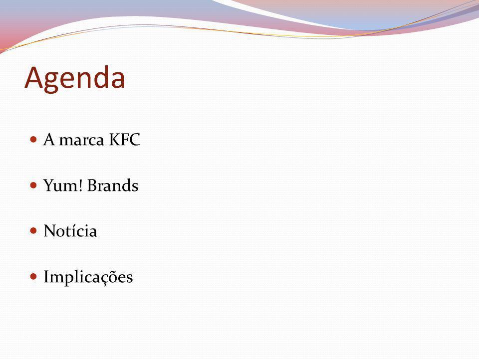 Agenda A marca KFC Yum! Brands Notícia Implicações