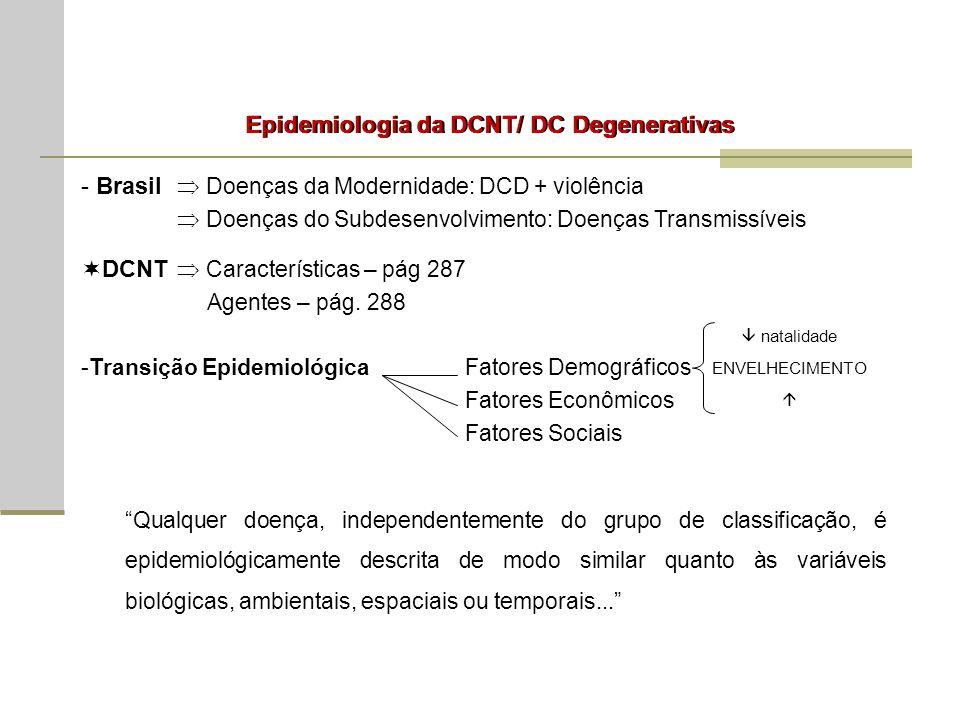 Epidemiologia da DCNT/ DC Degenerativas