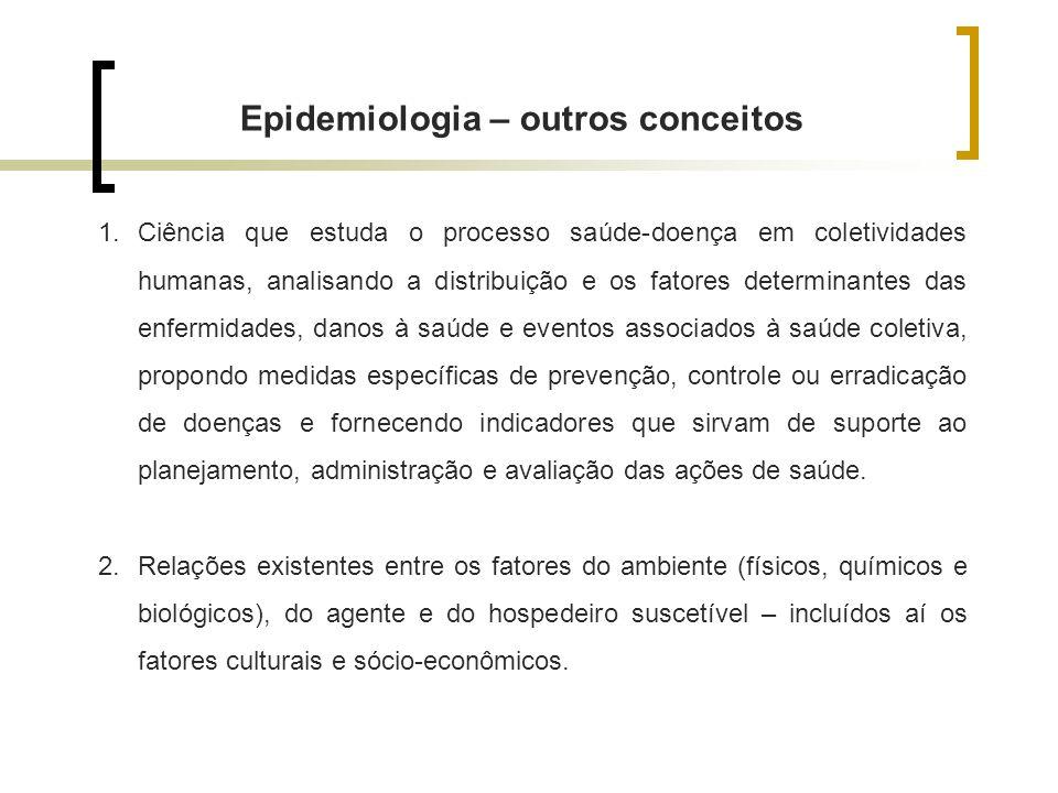 Epidemiologia – outros conceitos