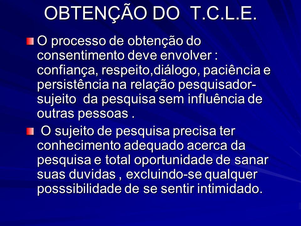 OBTENÇÃO DO T.C.L.E.