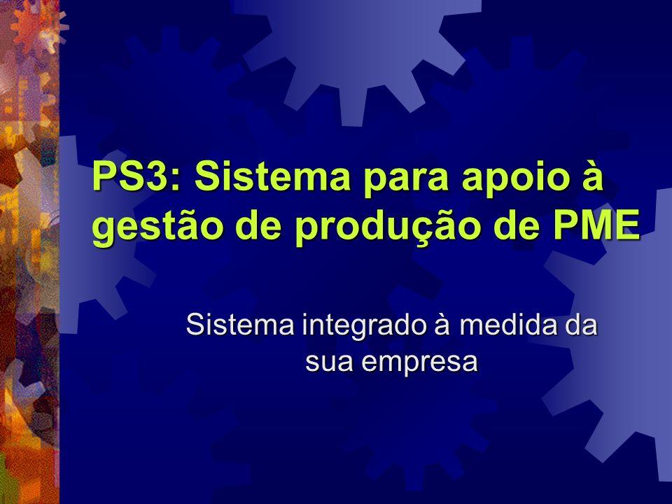 PS3: Sistema para apoio à gestão de produção de PME