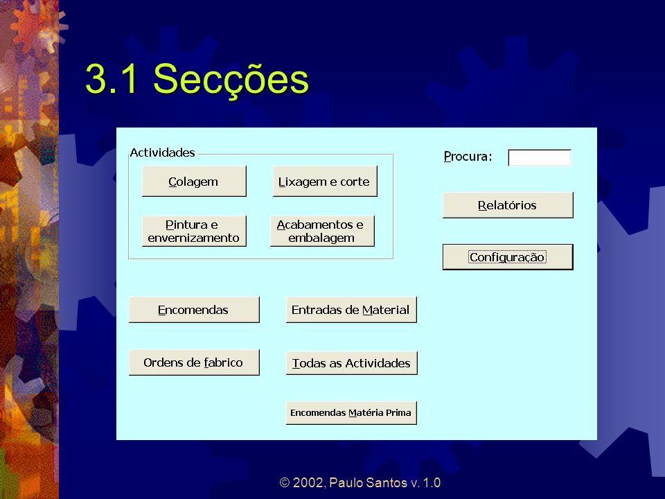 3.1 Secções © 2002, Paulo Santos v. 1.0