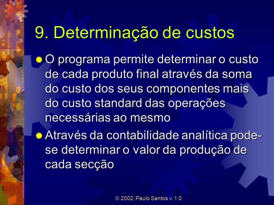 9. Determinação de custos