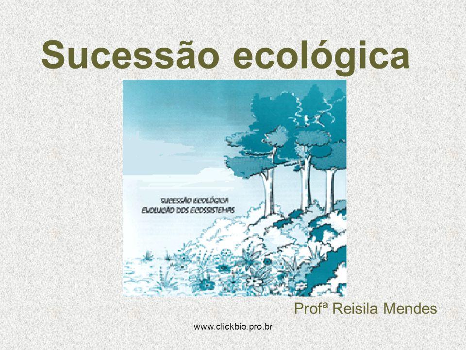Sucessão ecológica Profª Reisila Mendes www.clickbio.pro.br