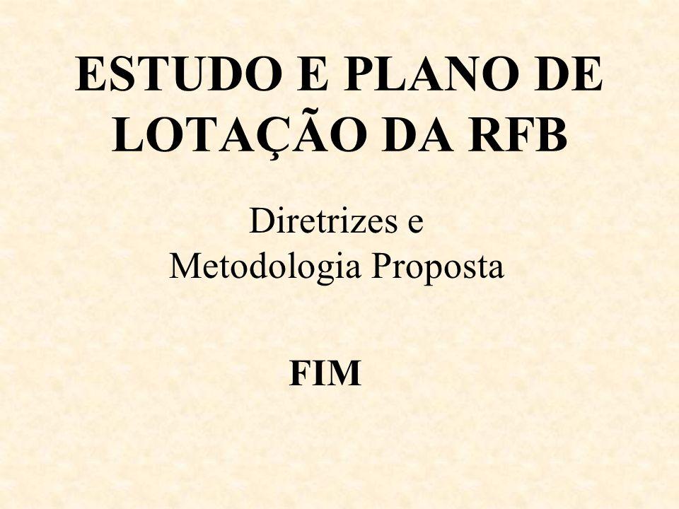 ESTUDO E PLANO DE LOTAÇÃO DA RFB