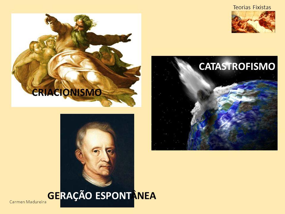 CATASTROFISMO CRIACIONISMO GERAÇÃO ESPONTÂNEA Teorias Fixistas