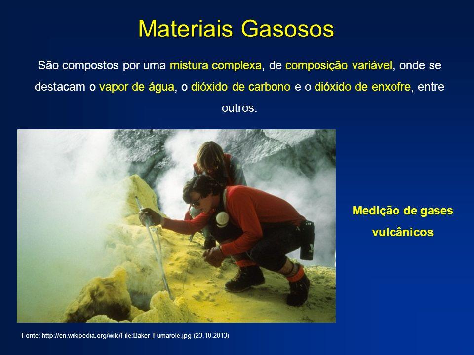 Medição de gases vulcânicos