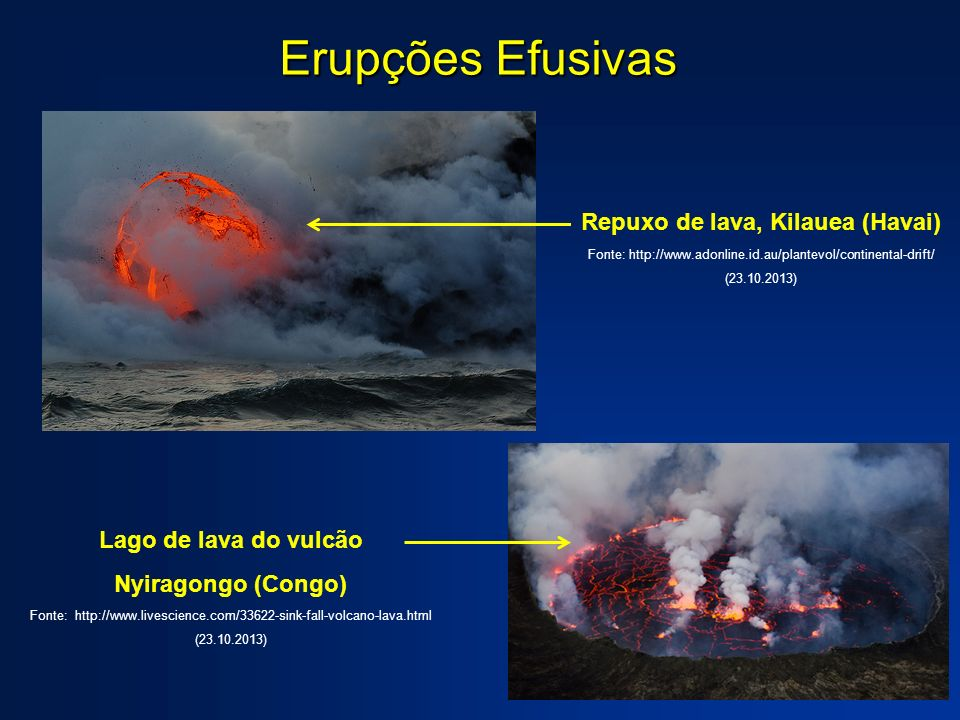 Repuxo de lava, Kilauea (Havai)