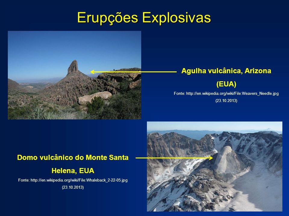 Erupções Explosivas Agulha vulcânica, Arizona (EUA)
