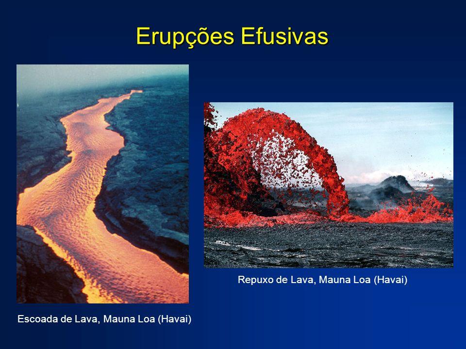Erupções Efusivas Repuxo de Lava, Mauna Loa (Havai)