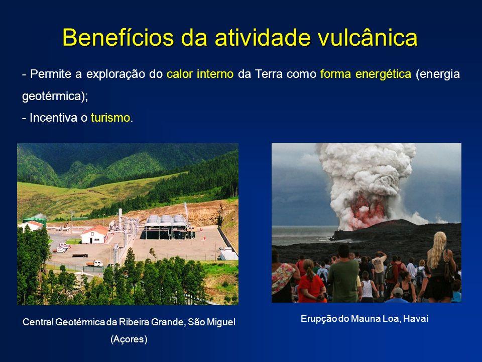 Benefícios da atividade vulcânica