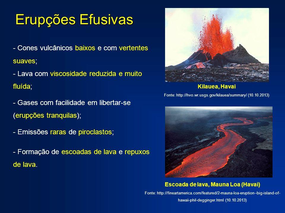 Escoada de lava, Mauna Loa (Havai)