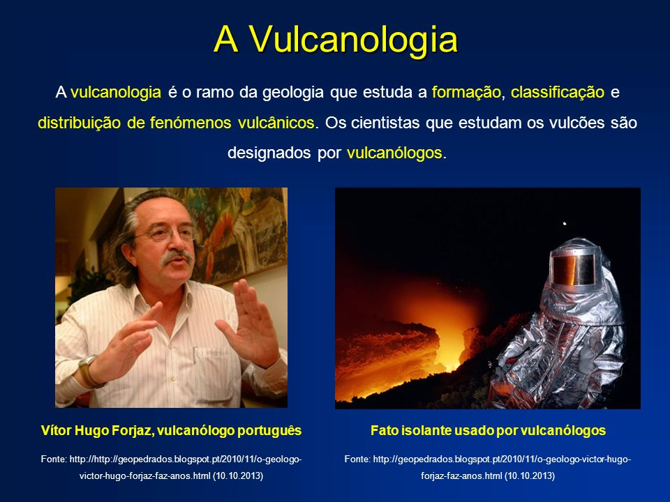 A Vulcanologia
