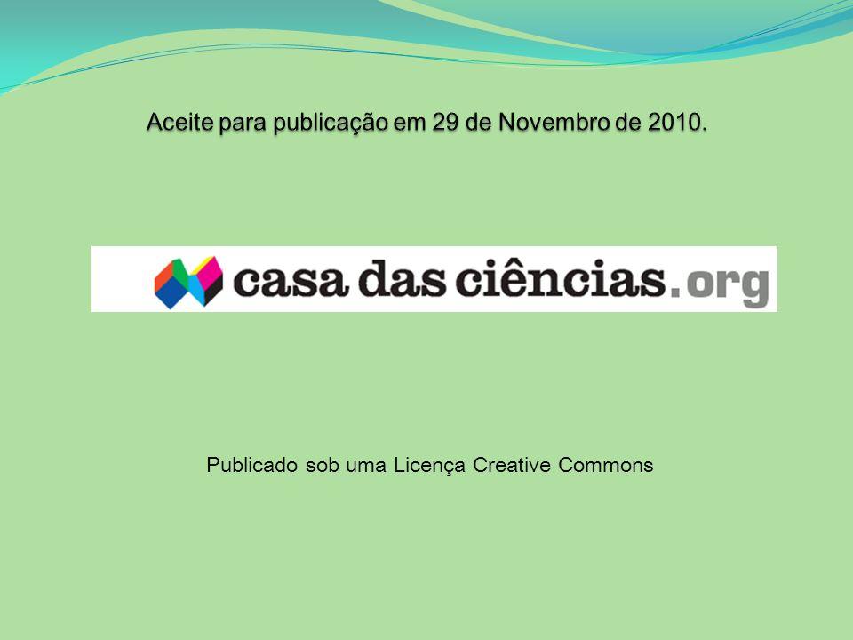 Aceite para publicação em 29 de Novembro de 2010.